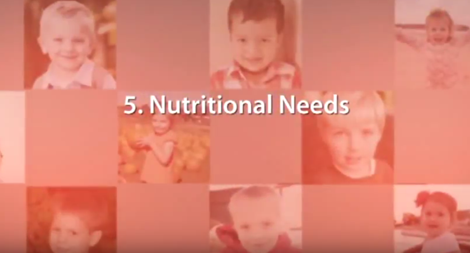 Chapter 5 – Nutritional Needs
