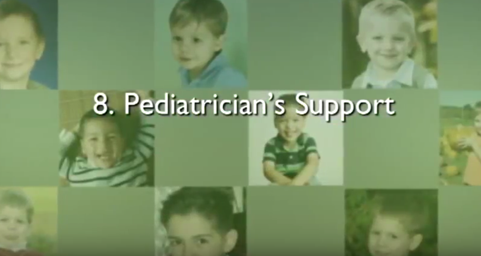 Chapter 8 – Pediatrician's Support