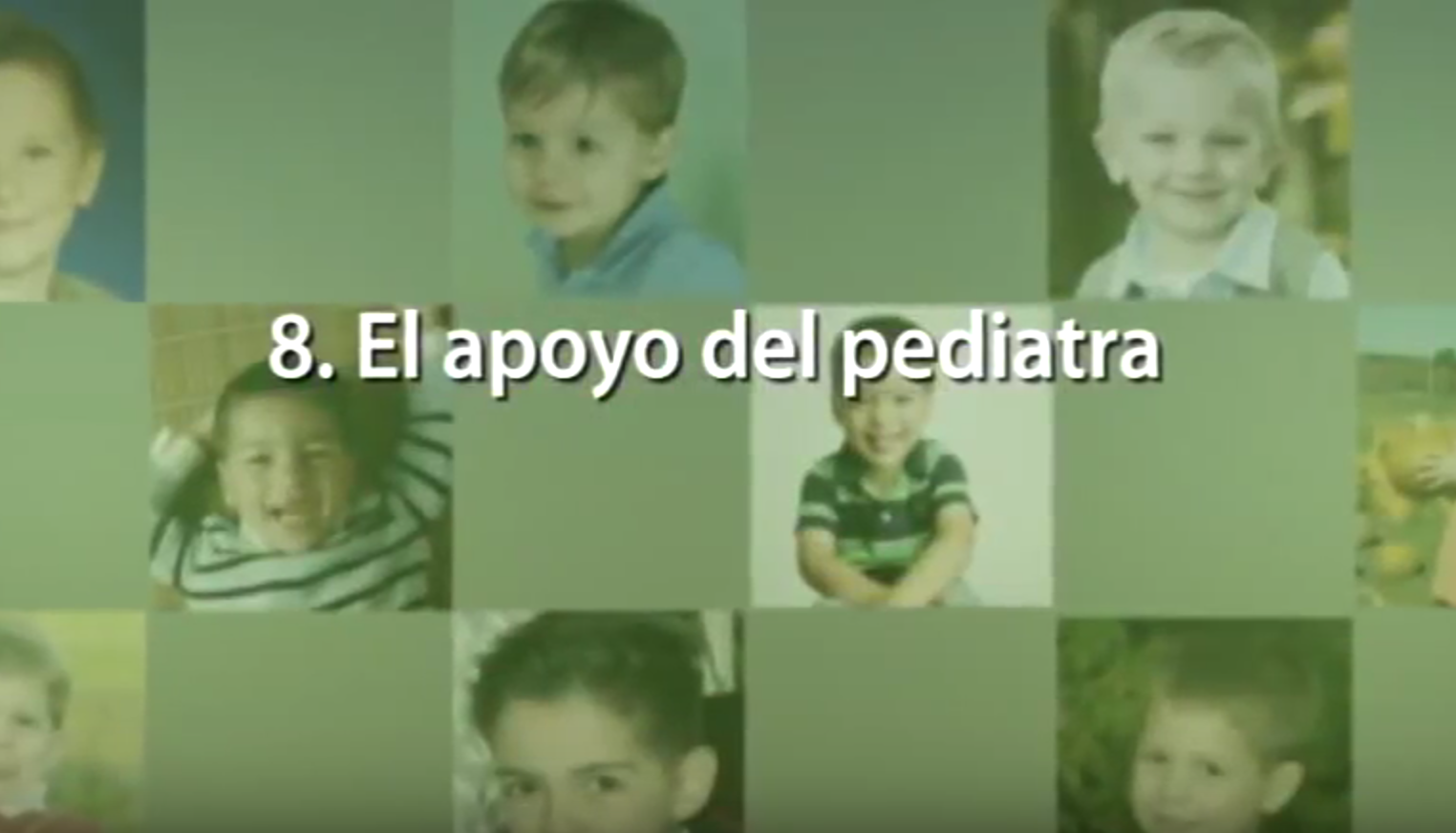 8. El apoyo del pediatra